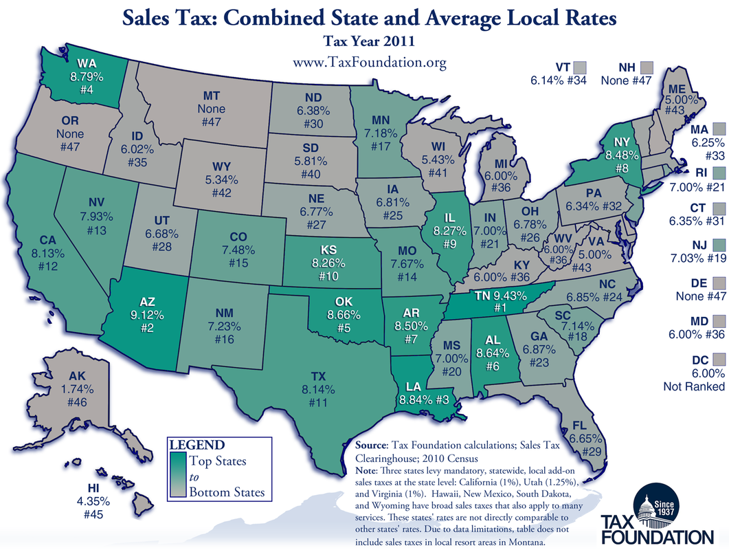 Property Tax States List